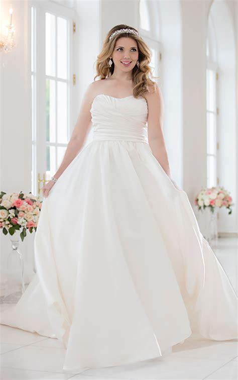 Satin Wedding Dress by Plus Size Satin Wedding Dress Stella York Wedding Dresses