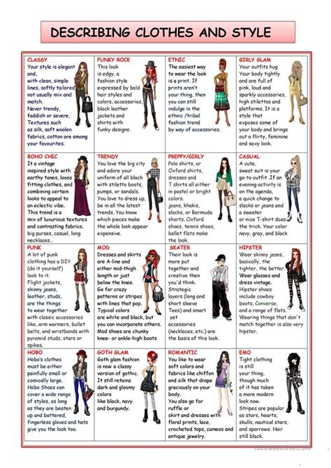 design clothes worksheet fashion and style worksheet free esl printable