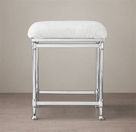 restoration hardware stool cushions newbury bath stool restoration hardware polished