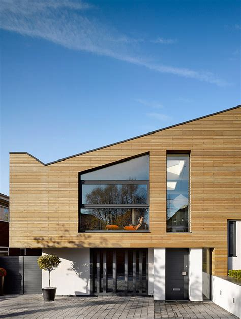 house design ideas exterior uk manchester residence gets a modern makeover encased in warm wooden tones