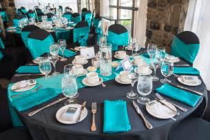Black teal wedding decor ottawa wedding planners ottawa events