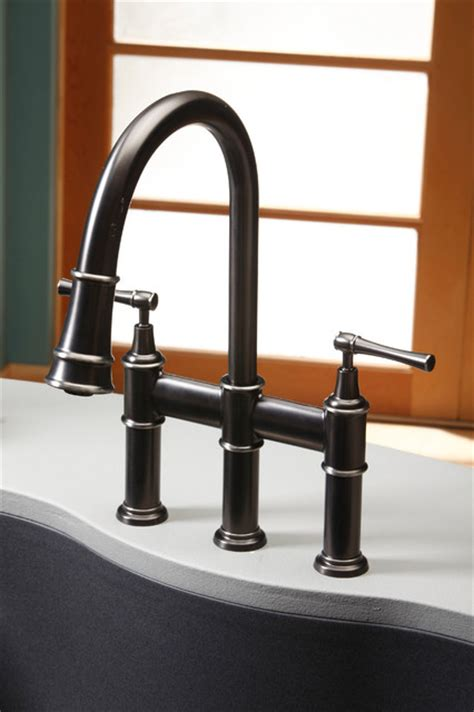 famous bridge kitchen faucet with pull down spray best elkay explore pull down bridge faucet traditional