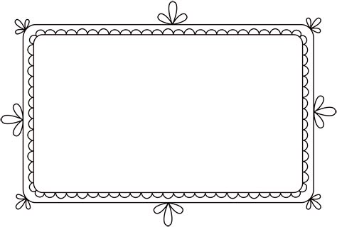 clipart frame free clip brushes digital frames with scalloped