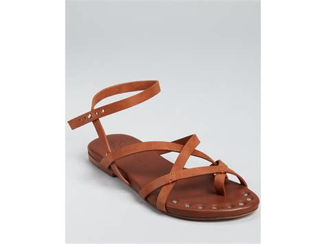 matt bernson sandals matt bernson sandals strappy flat in brown coral lyst