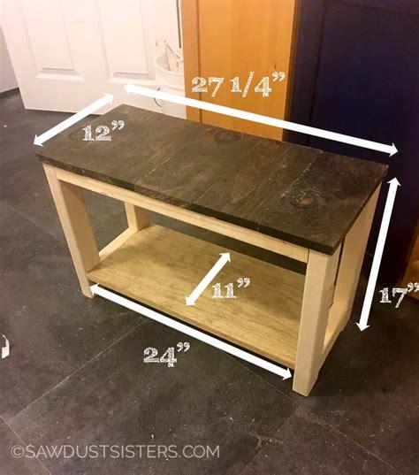 diy shoe rack bench diy mudroom bench from scrap wood sawdust sisters