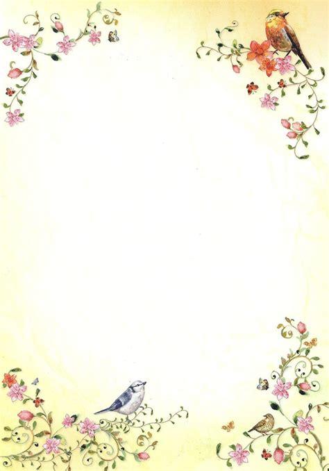 Design Vorlagen Briefpapier briefpapier v 246 gel und blumen tatmotive doreens