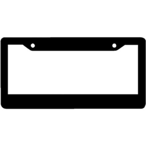 gestell mit teller simple blank black plastic license plate frame