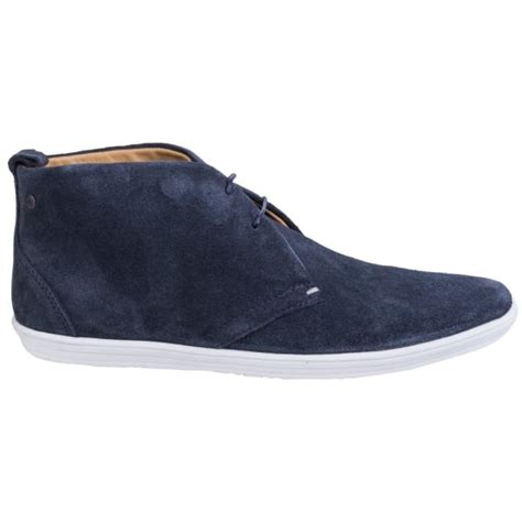 Casual Suede Navy base mens roadie suede navy casual ankle boots