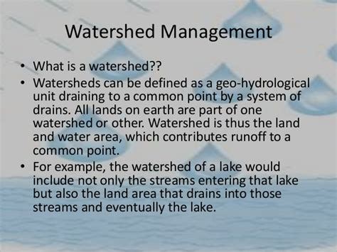 Water Shed Management by Rainwater Harvesting And Watershed Management