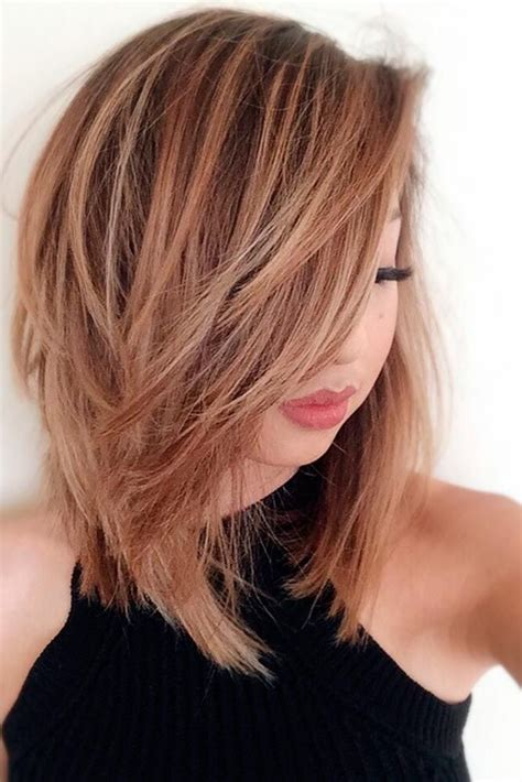 how to cut medium or thick hair in a blunt 18 medium length hairstyles for thick hair medium length