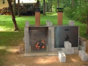 smoker pit made from cinder blocks favorite places