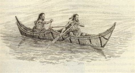 small boat used by the karankawa what native american tribe used canoes