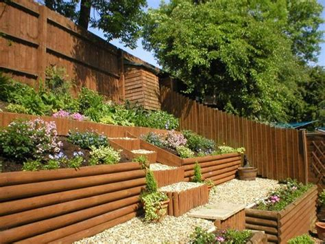 sloping backyard ideas sloping garden ideas for beeanddave
