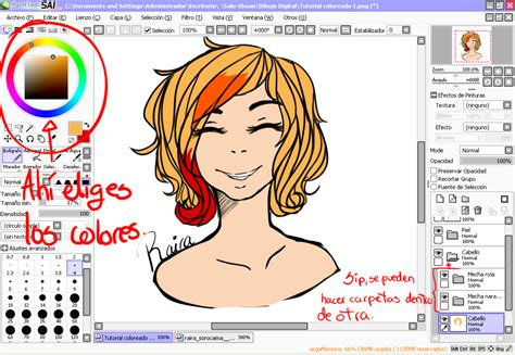 tutorial como dibujar en paint tool sai colorear en sai 161 dibujos m 250 sica