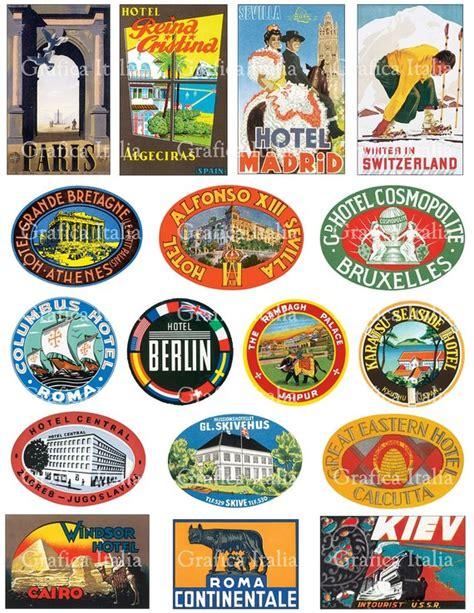 Kofferaufkleber Mallorca by 17 International Travel Clip Art Vintage Luggage Labels