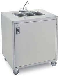 used portable three compartment sink crown verity three compartment portable sink cart