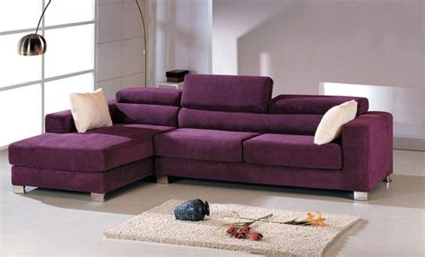 purple color sofa l shape i can find it in a neutral color