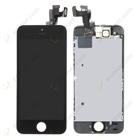 Lcd Fullset Iphone 55s Original Black Tested front for iphone 5s se lcd screen digitizer touch with small parts assembly black original