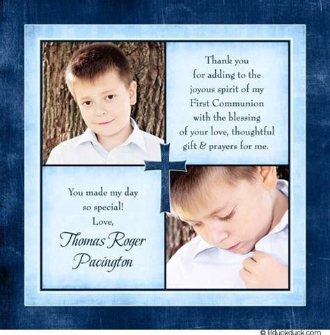 Holy Communion Photo Thank You Cards