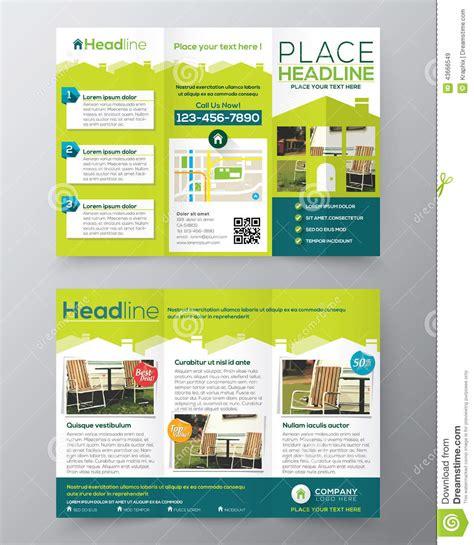 real estate brochure flyer design vector template in a4
