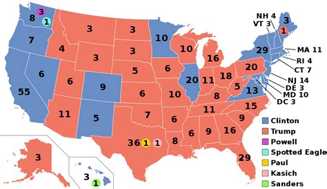 map of us electoral votes electoral college united states