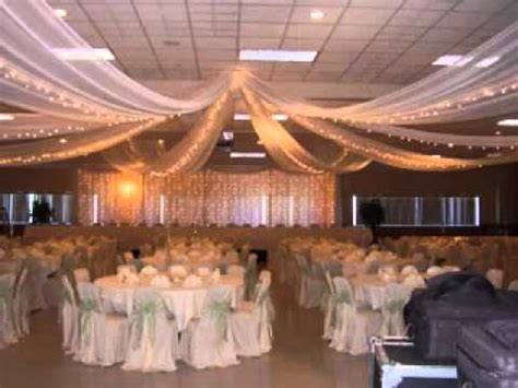 Tent Draping Pictures Diy Wedding Party Ceiling Decorations Youtube