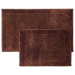 Bathroom Rugs Clearance Mohawk Mercer 2 Bath Rug Set Chocolate Bath Rugs Mats For The Home Shop Your Navy