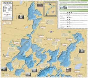 three map three lakes chain fold map