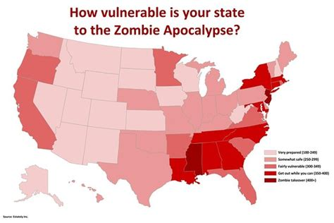 map of usa zombies real estately survival map zombielaw