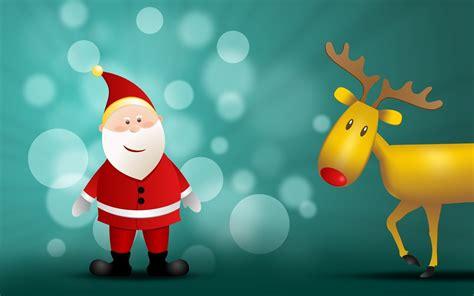wallpaper christmas reindeer santa claus and reindeer wallpapers santa claus and
