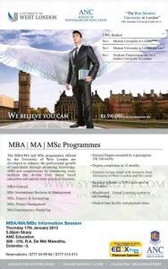 Ma Ms Mba Degree by Mba Ma Msc Degree Programme From Anc 171 Synergyy