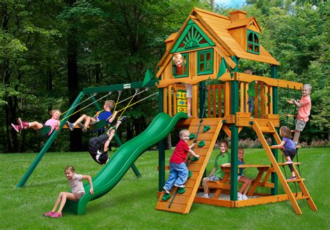 gorilla wooden swing sets lowest price gorilla chateau treehouse sierra playset