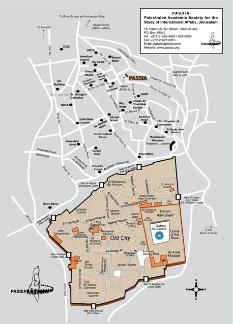 map of city of jerusalem jerusalem map