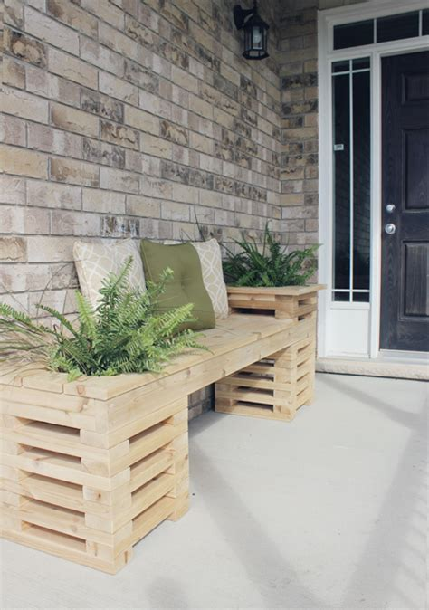 homemade planters 9 diy planter benches for your outdoor spaces shelterness