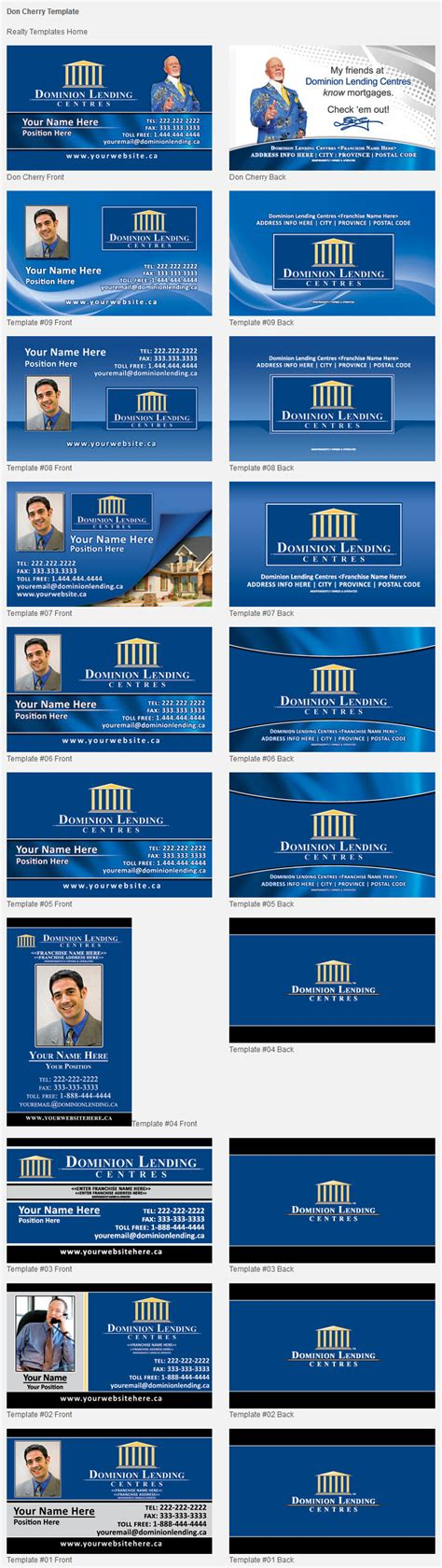 dominion card template dominion lending design templates unico print media