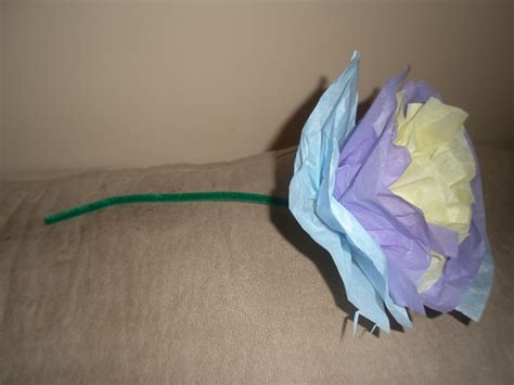 Tissue Paper Flower Craft Ideas - how to make a tissue paper flower arts crafts projects for