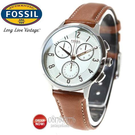 Promo Fossil Fs5000 Leather Vintage Chronograph promo jam tangan fossil ch3014 original