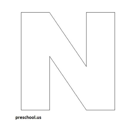 letter n template common worksheets 187 letter n preschool worksheet
