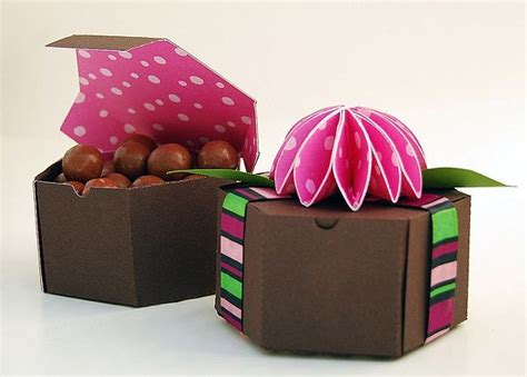 six sided favor box template paper ideas pinterest