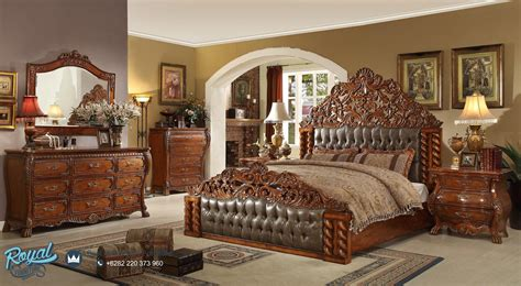 set kamar tidur mewah kayu jati victorian bedroom set royal furniture jepara