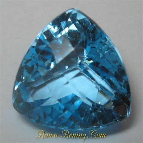 Batu Blue Topaz 4 50 Karat batu permata sparkling triangular blue topaz 12 90