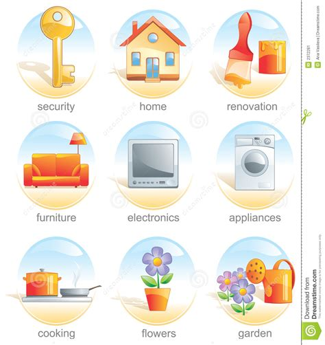 Home Design 3d Compact Download Icon Set Home Related Items Stock Image Image 2372281