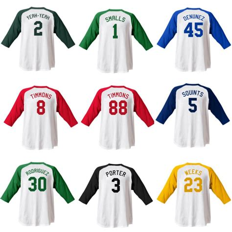 Costume Name Jersey sandlot jersey shirts choose player name sand lot