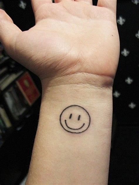 smiley face tattoos best 25 smiley tattoos ideas on smile