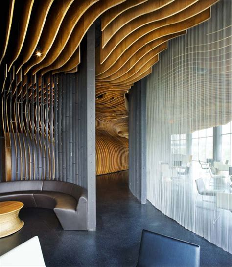 Interior D Wall Treatment by Genexis Theater Fusionopolis By Arup Woha