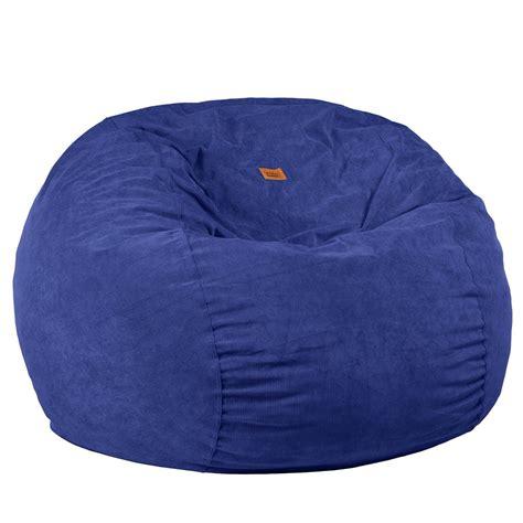 corduroy bean bag chair in navy size navy blue corduroy bean bag sleeper right
