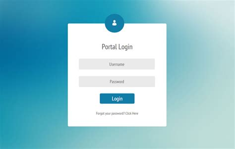 html template for login page image gallery login form