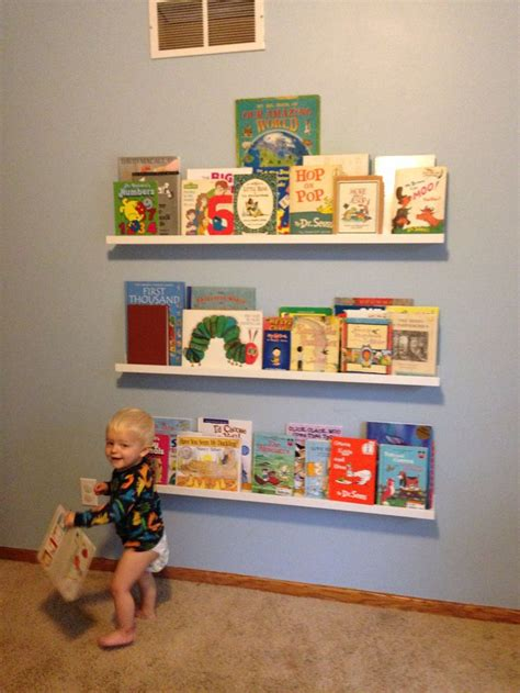 ribba ledge ikea ribba picture ledge for kids books home pinterest