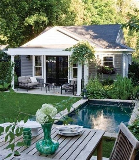 small house for backyard 25 best ideas about small pool houses on pinterest