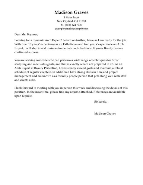cover letter for spa salon cover letter cover letter